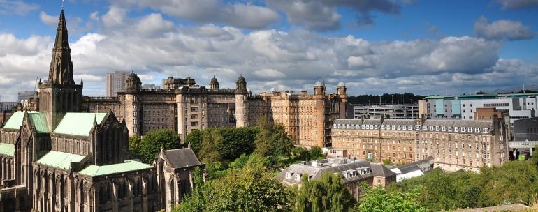 catedral de Glasgow en la zona medieval